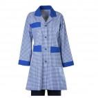 Kat Görevlisi Kıyafeti Mavi Kareli