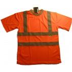 Yazlık Fosforlu Turuncu Polo T-Shirt