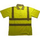 Yazlık Fosforlu Yeşil Polo T-Shirt